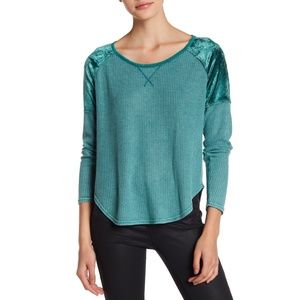 Lucky Brand Mixed Texture Thermal Top